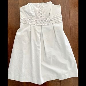 Auth Lilly Pulitzer white beaded lace size 2 dress